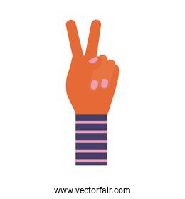 hands with peace and love symbol