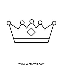 crown queen line style icon