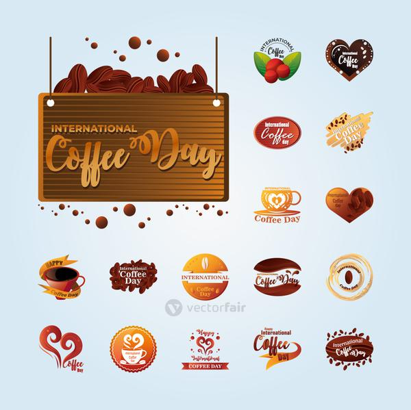 bundle of icons international coffee day