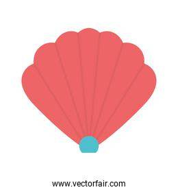 Shell flat style icon vector design