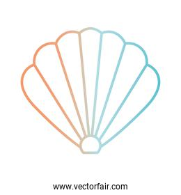 Shell gradient style icon vector design