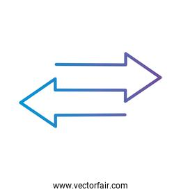 bars chart in website gradient style icon vector design
