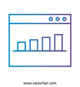 right and link arrow gradient style icon vector design