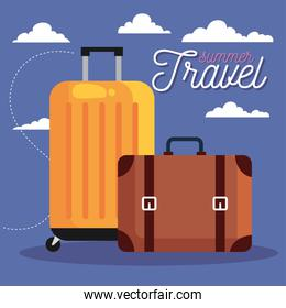 summer and travel bags vector design