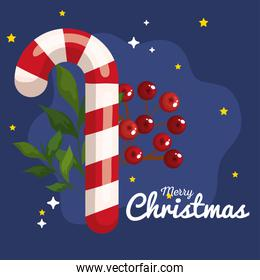 christmas candy cane, banner of new year and merry christmas celebration