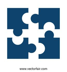 puzzles jigsaw toy strategy solution silhouette icon