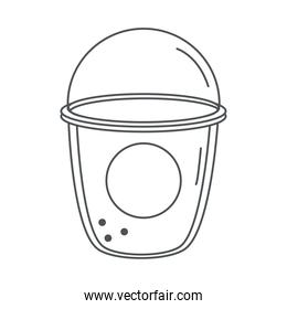 tea, smoothie fresh beverage disposable cup line icon style