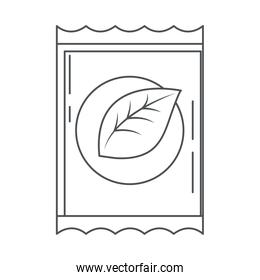 tea bag herbal traditional refreshment line icon style