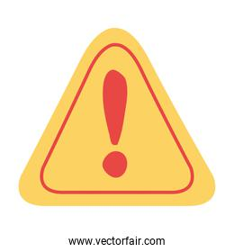 alert signal triangle isolated icon