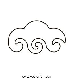 chinese cloud sky line style icon