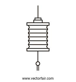 chinese paper lamp hanging line style icon