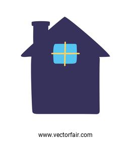 house building front facade icon