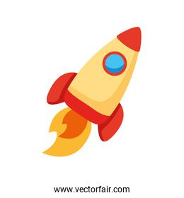 rocket launcher spaceship flat style icon