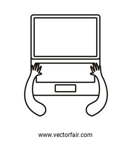 laptop computer portable device icon