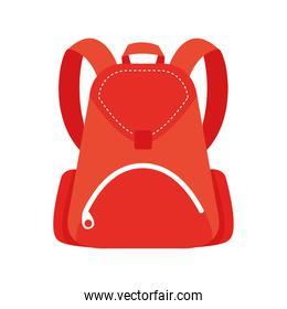 school bag color red  flat style icon