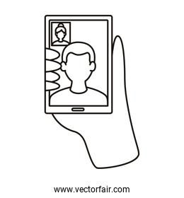 smartphone device with video call communication