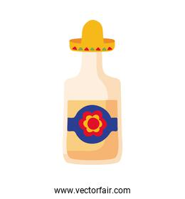 tequila bottle mexican flat style icon