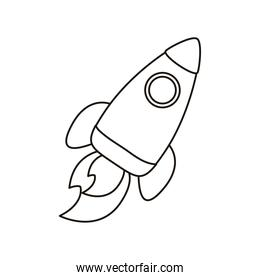 rocket launcher spaceship linear  style icon
