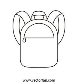 school bag equipment line style icon
