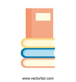 pile text books flat style icons