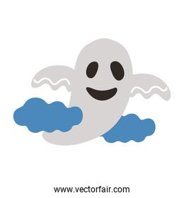 halloween ghost floating style flat icon