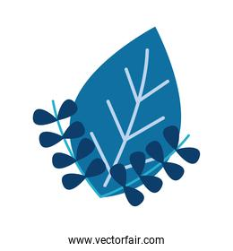 leaf and branch plants ecology flat style icon