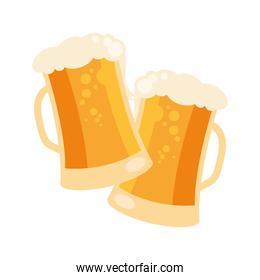 beer glasses icon vector design