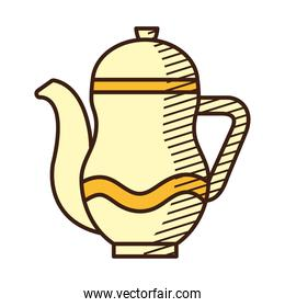 herbal tea drink icon, hand draw style