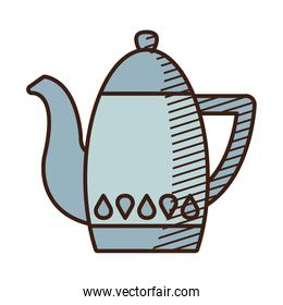 teapot icon image, hand draw style