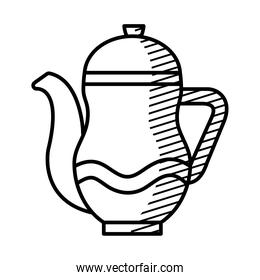 herbal tea drink icon, line style