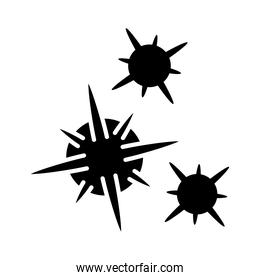 cancer cells icon, silhouette style