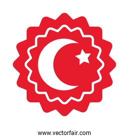 seal with turkey flag design, flat style