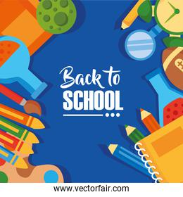 back to school poster with
