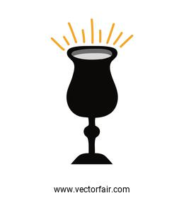chalice cup flat style icon