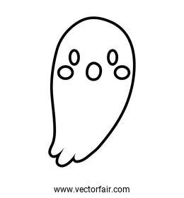 halloween ghost line style icon