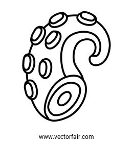 octopus tentacle line style icon