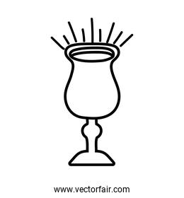 chalice cup line style icon