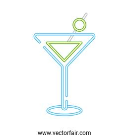 cocktail cup drink neon style icon