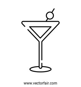 cocktail cup drink line style icon