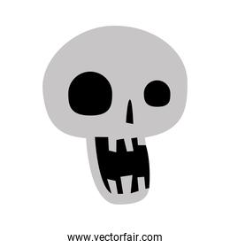 skull head icon vector design