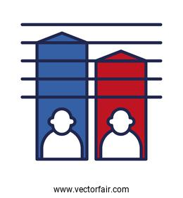 President election progress line and fill style icon vector design
