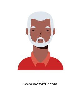 old afro ethnic man character icon