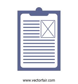 lilac checklist clipboard document isolated icon