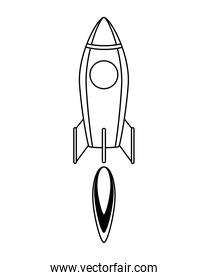 rocket start up launcher line style icon