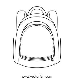 school bag equipment linear  style icon