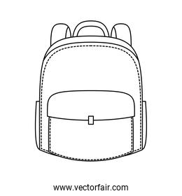 school bag linear style icon