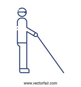 person blind disabled line style icon