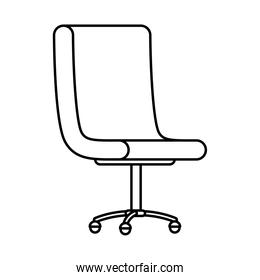 office chair forniture line style icon