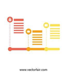 financial icons and bars infographics statistics flat style