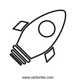 rocket launcher line style icon